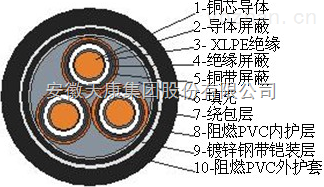 天康礦用MYJV22-3.6/6KV 8.7/10kV電纜,MYJV42-3.6/6KV 8.7/1