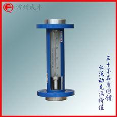 F10-25F法兰连接玻璃管浮子流量计 接液304