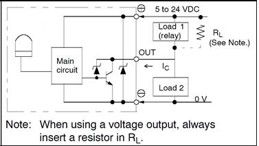 内部带上拉电阻npn输出电路图