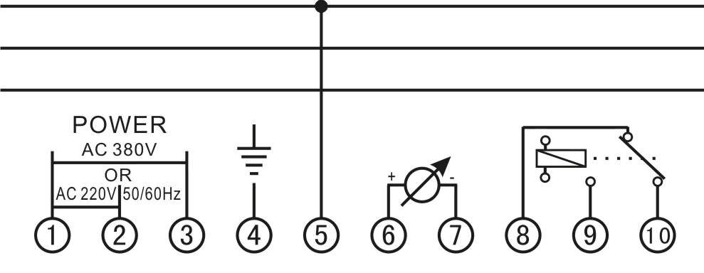 YNY绝缘监测仪接线图