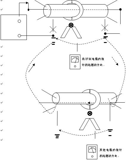2,识别仪主机输出红色插座应连接至待识别电缆的好相或绝缘值相对高