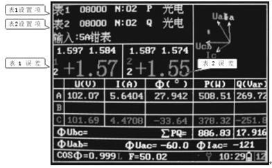 例:某低压三相四线输电线路,额定电流为500a ,其计量装置由500/5 的ta