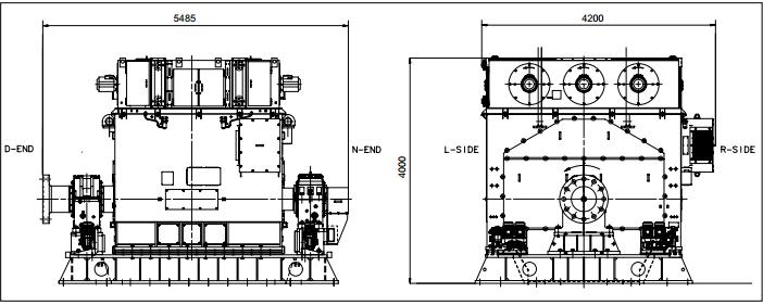 用于船舶行业的同步电机-abb同步电机尺寸效果图