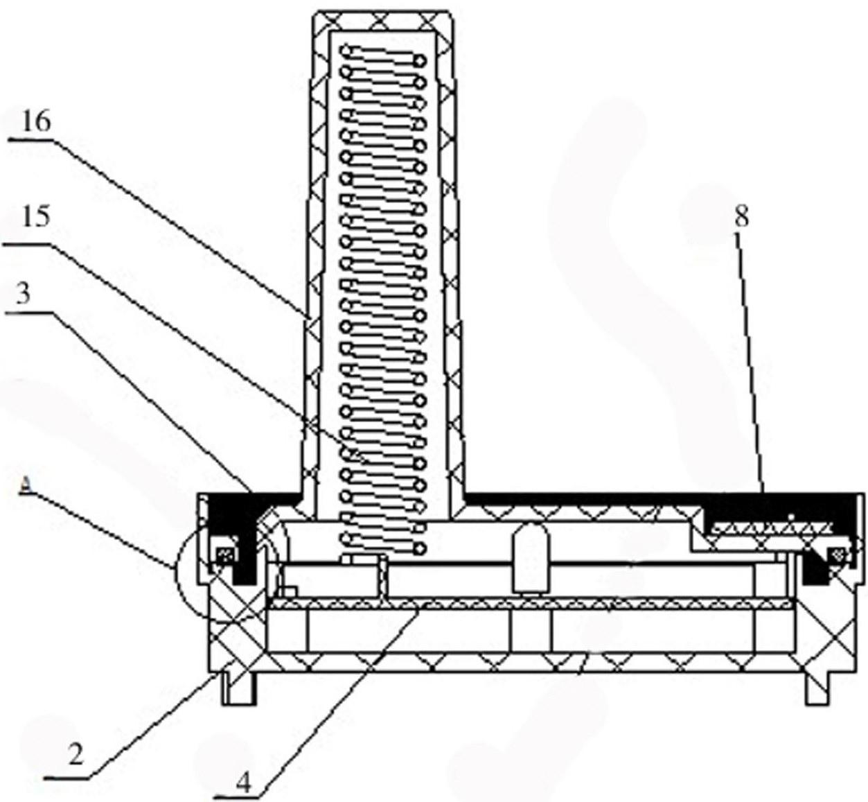 所述电子模块固定在所述盒座内,所述盒盖固定连接有接线板,所述接线板