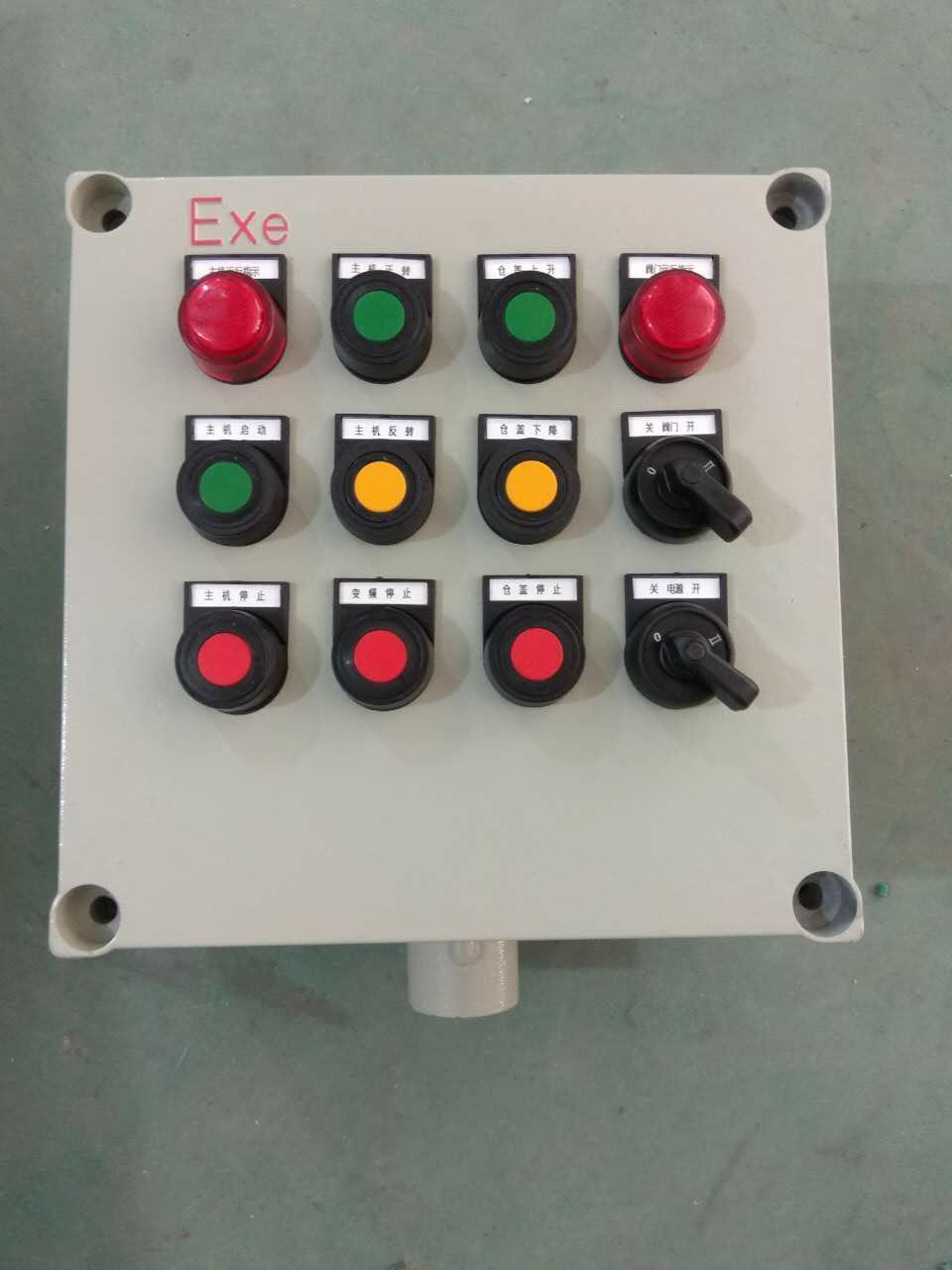 装有电流表,信号灯的控制器还可对电机运行或电路情况进行监测和显示.